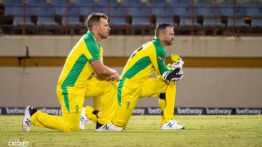 Aaron Finch and Matthew Wade in St Lucia.