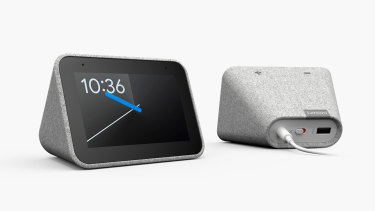 The Lenovo Smart Clock is designed for your bedside table.