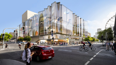 A design image for the theatre, dubbed the New Performing Arts Venue. December's budget papers revealed the total contribution from the state had jumped, taking the project cost to $175 million.