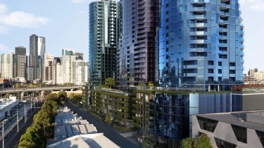 CEL Australia's $140 million, 29-level tower at 15-85 Gladstone Street in South Melbourne.