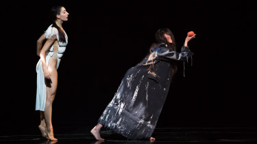 Mirea Delogu, left, gives the best performance as Snow White; right, Anna Tatarova as the Queen.