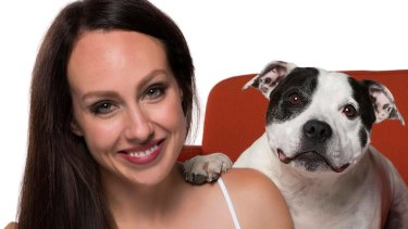 Laura Vissaritis with Chester.
