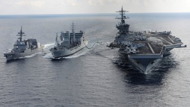 The deal paves the way for more military cooperation such as the Malabar naval exercises.