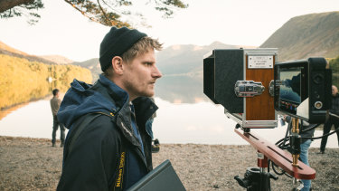 British director Harry Macqueen on the set of Supernova, which is set around Britain's Lake District.