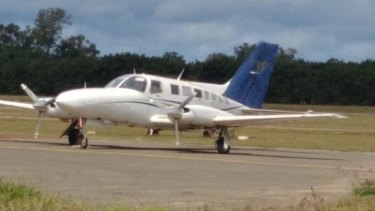 The Cessna light plane, before it crashed in PNG.
