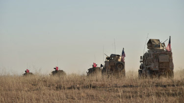 Turkish and US troops conduct joint patrols around the Syrian town of Manbij last month, as part of an agreement that aimed to ease tensions between the two NATO allies.