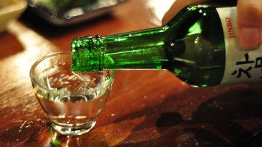 Soju is a popular alcoholic drink in South Korea.