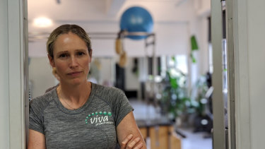 Kathryn Anderson is the owner of Viva Physiotherapy which has seen a 40 per cent drop in business.