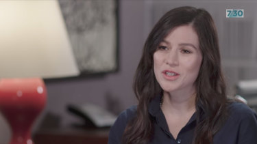 Yael Stone speaking to Leigh Sales on 7.30.