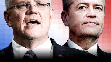 Scott Morrison and Bill Shorten. Neither Labor nor the Coalition is likely to control the Senate.