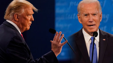 A quieter Trump and a well-drilled Biden faced off in the last presidential debate.