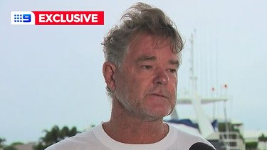 David Simpson, 64, tells of his three-hour ordeal off Bribie Island and the Caloundra coast.