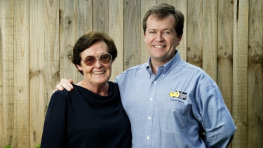 Opposition Leader Bill Shorten and his mother, Ann, pictured in Mr Shorten's AWU days.
