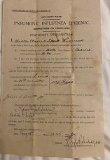 The document signed by a Justice of the Peace granting permission to travel.