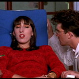 A young Antonio Banderas with Rossy de Palma in Women on the Verge of a Nervous Breakdown.
