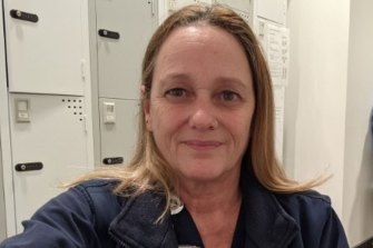 Michelle Rosentreter is caring for COVID  patients in a Sydney ICU.