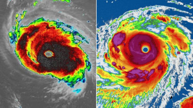 Hurricane Florence and Super Typhoon Mangkhut