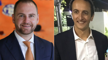 The fight for Wentworth: Andrew Bragg and Dave Sharma.