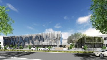 A graphic of what the new Queanbeyan police station will look like when completed.