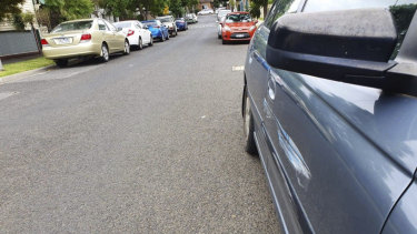 Damage to vehicles which residents claim Duncan St was caused chaotic scenes after the festival.