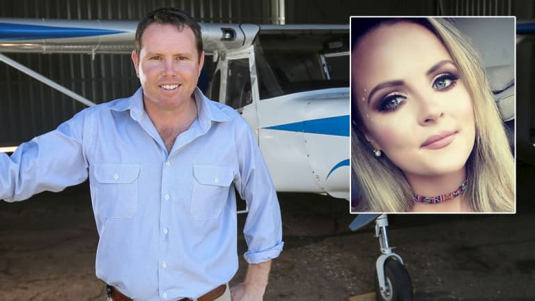 Disgraced Nationals MP Andrew Broad and Sweet Sophia Rose, aka Amy.