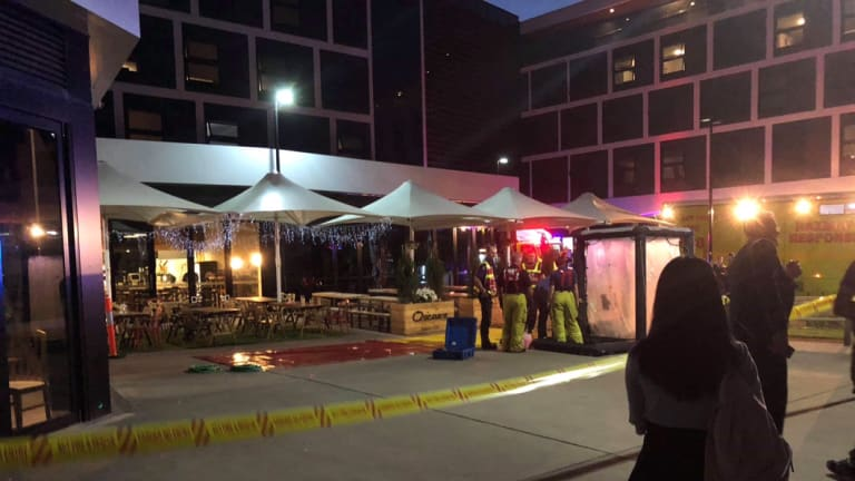 Police were called to the University of Canberra's student residences on Tuesday night.