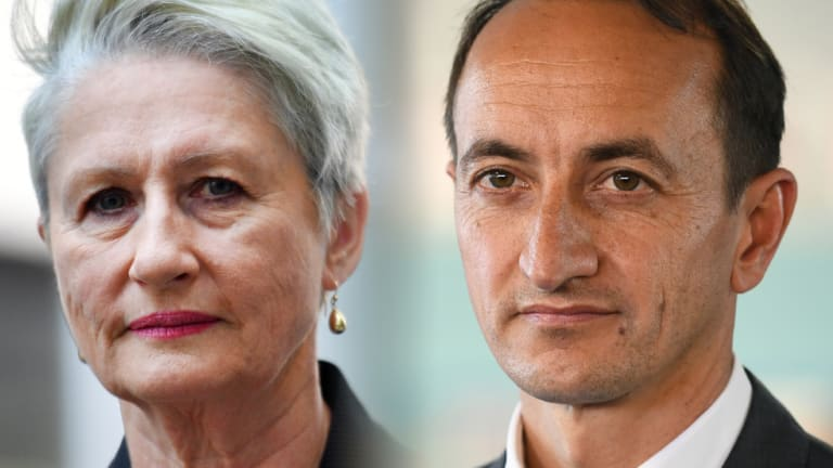 Independent candidate Kerryn Phelps and the Liberal Party's Dave Sharma.