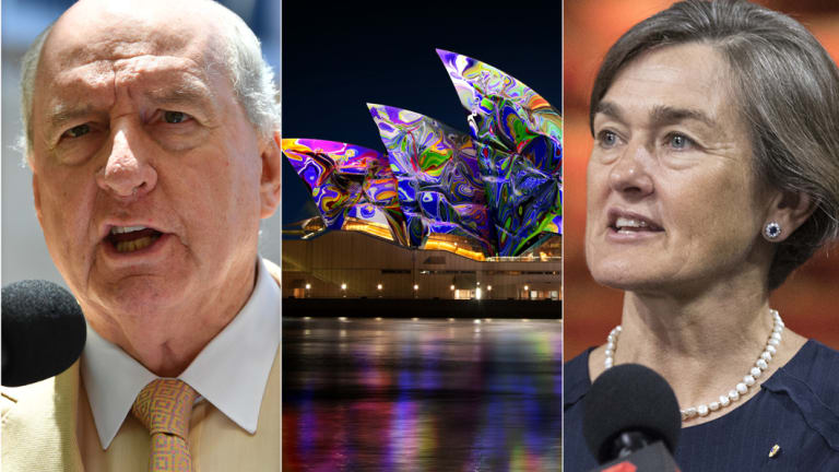Alan Jones has defended his interview with Louise Herron over plans to promote The Everest on the Opera House.