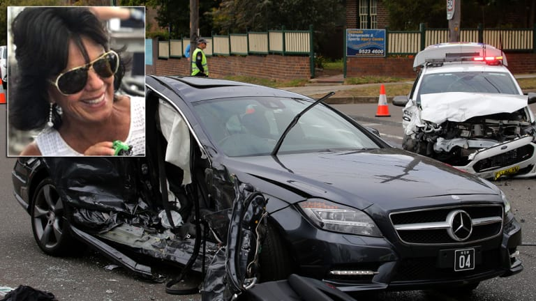 Gai Vieira was seriously injured in a crash with a police car in Cronulla on September 5.