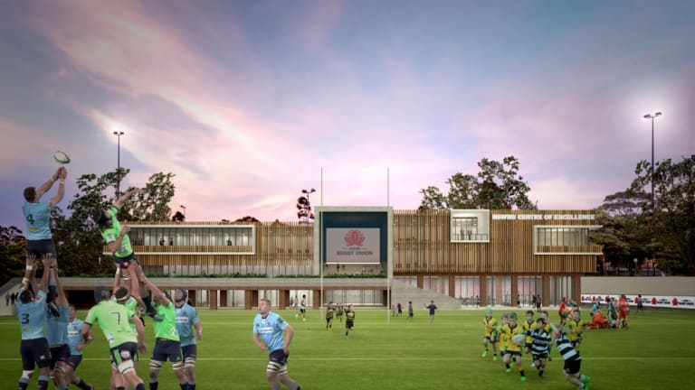 Centre of attention: Artist's impression of the NSW Rugby centre of excellence.