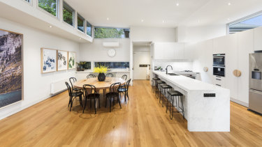 The South Yarra home before it was gutted.