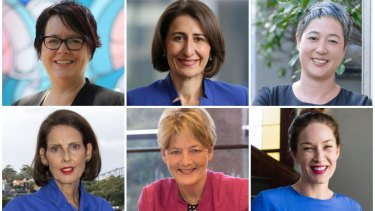 Labor's Penny Sharpe, Liberals' Gladys Berejiklian, Greens' Jenny Leong, Independent Carolyn Corrigan, Liberals' Catherine Cusack and Keep Sydney Open's Jess Miller are running for seats in the NSW election.