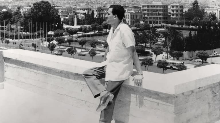 Eli Cohen in Damascus, Syria, in the early 1960s, wearing the watch.