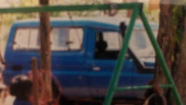 The Toyota 4WD seized and searched by WA police.