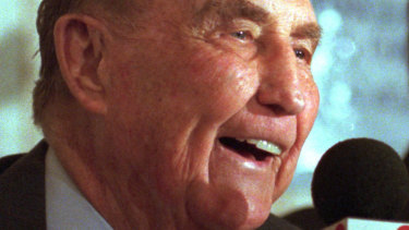 Strom Thurmond turning 95 in 1997.