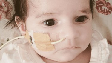 Amelia Khan suffered brain damage and is being fed through a tube.