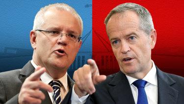 Prime Minister Scott Morrison and outgoing Labor leader Bill Shorten.