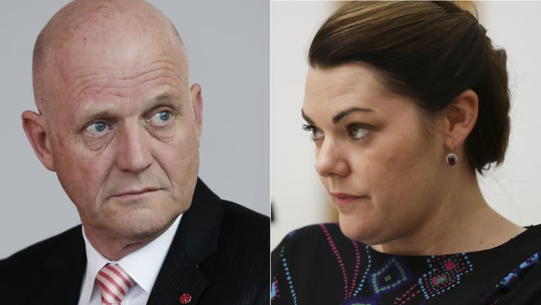 Co-workers surely? David Leyonhjelm and Sarah Hanson-Young.