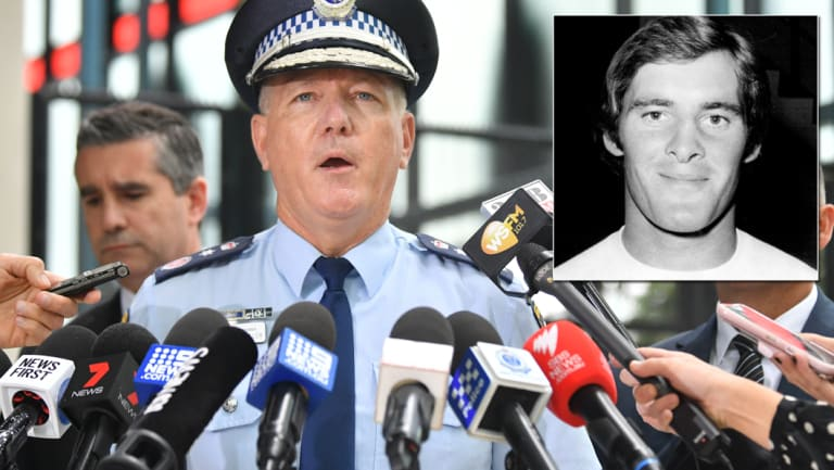 NSW Police Commissioner Mick Fuller, left, and Chris Dawson, inset.