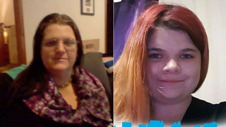 Leanne (left) and Tiffany Loughrey were sentenced at the NSW District Court on Monday.