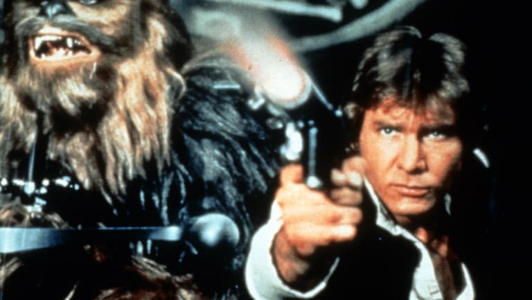 Han Solo (Harrison Ford) in The Empire strikes back, right.