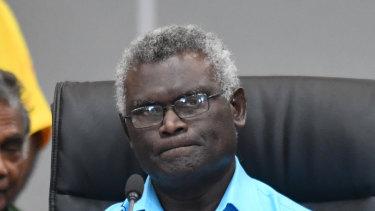 Snubbed for US meeting: Solomon Islands Prime Minister Manasseh Sogavare.