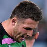 Sam Burgess drops the ball as Souths concede top spot to Roosters