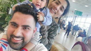 Aman and Preet Chechi with their son Gurman, pictured in December 2019 just before Gurman travelled to India with his grandparents.