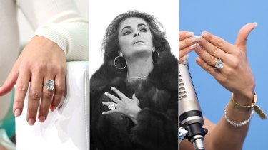 Giant rings ... Kim Kardashian, Elizabeth Taylor, J.Lo.