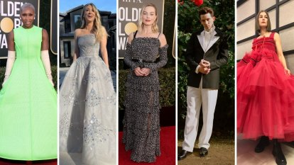 Stars tread fine line as they glam up for Golden Globes virtual red carpet