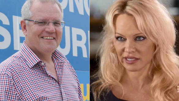 Pamela Anderson accuses Scott Morrison of making 'smutty' comments about her