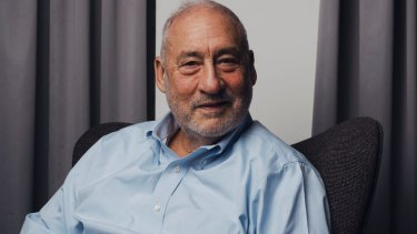 """Nobel Prize-winning economist Joseph Stiglitz described the Morrison government's plans to force Google and Facebook to pay for news content as """"important"""" for democracy."""