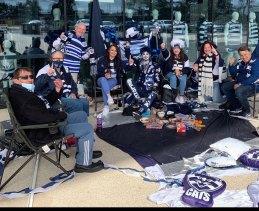 Cats fans in Geelong.