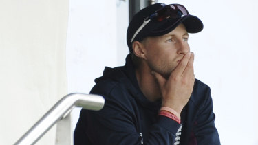 Somber mood: England captain Joe Root could only watch as Australia bowled their way to victory in the first Test.